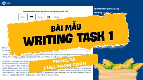GIẢI ĐỀ IELTS | SAMPLE WRITING TASK 1 | Dạng PROCESS - FUEL FROM CORN