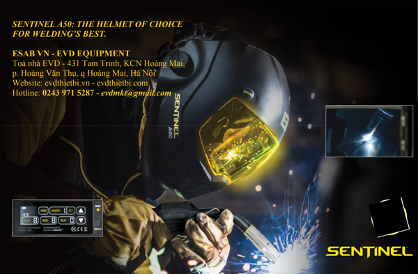 SENTINEL A50: THE HELMET OF CHOICE FOR WELDING'S BEST.