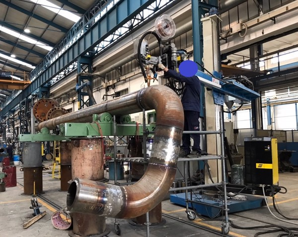 ESAB ARISTO 1000 SUBMERGED ARC WELDING SYSTEMS USED BY FAI TO FABRICATE HIGH-PRESSURE SPOOLS FOR HYDROCARBON FLOW LINES