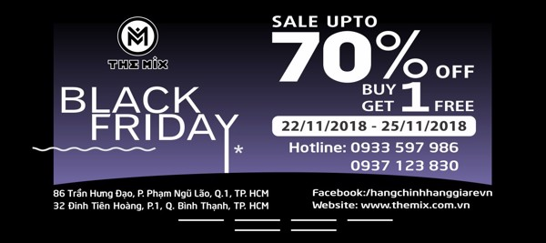 BLACK FRIDAY 2018  AT THE MIX – SALE UP TO 70%