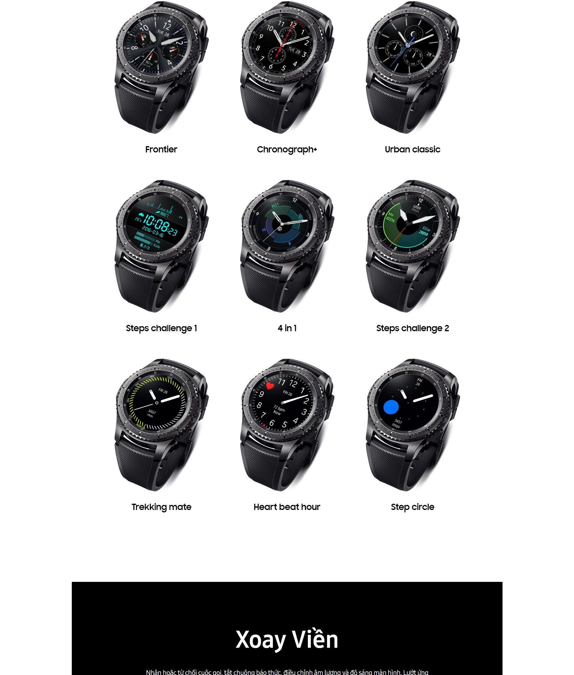 Đồng hồ Samsung Gear S3 Frontier Likenew