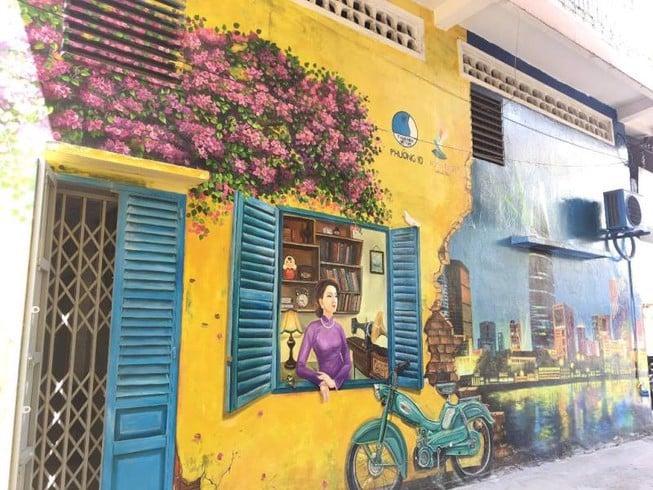 sơn vẽ tranh tường