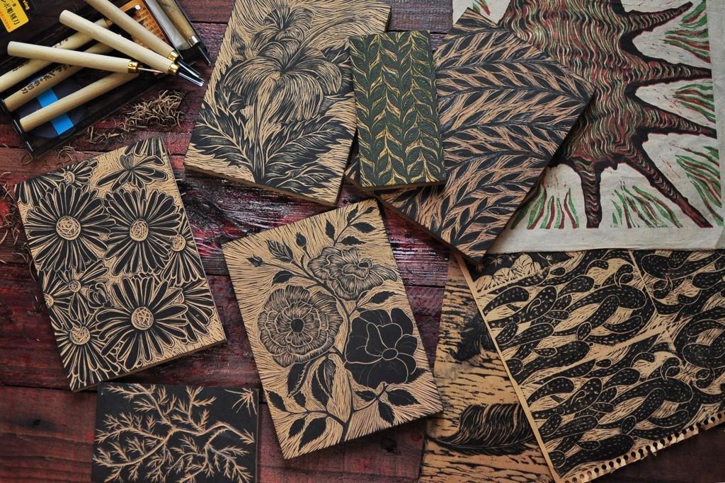 tranh in khắc gỗ