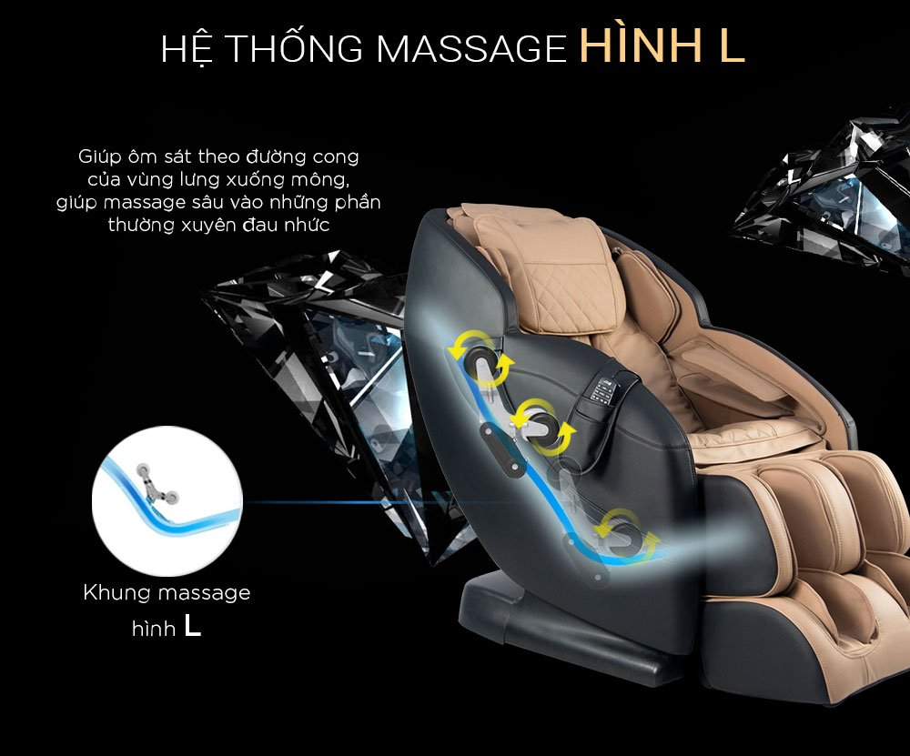 Ghế Massage 4D Black Diamond MK-5600