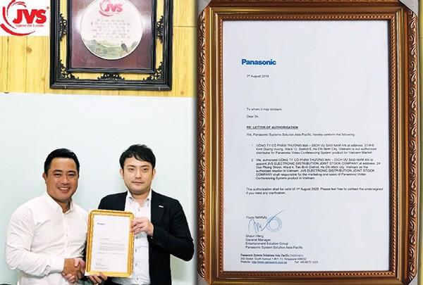 Công ty JVS là nhà phân phối hội nghị truyền hình Panasonic tại Việt Nam