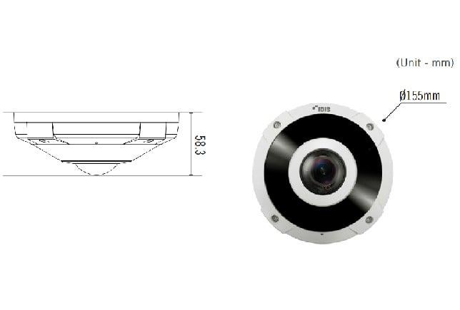 Camera quan sát Idis DC-Y8C13RX Fisheye