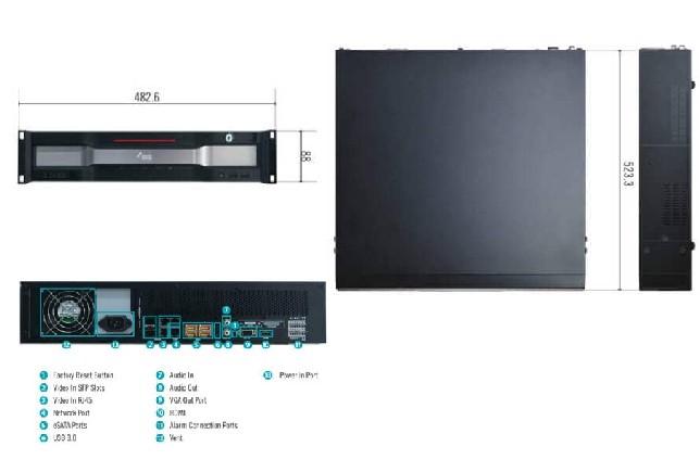 Thiết kế của đầu ghi camera Idis 64 kênh DR-8364(F)