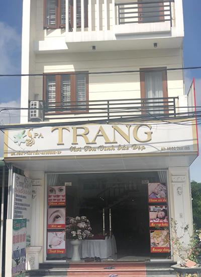 Cơ sở Trang Spa tại Xóm 1, xã Tân Tiến, huyện An Dương, thành phố Hải Phòng