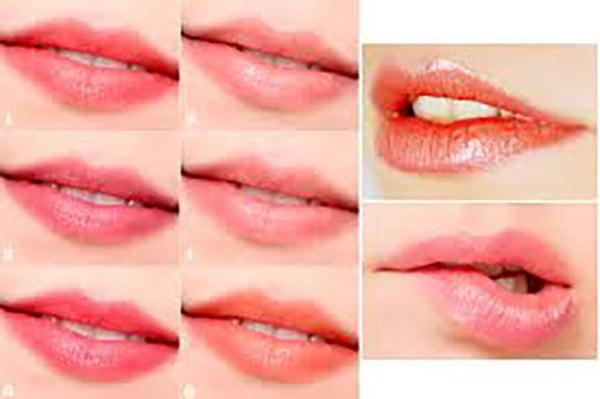 Khoảng 10 – 14 ngày màu môi sẽ lên rõ ràng và tươi
