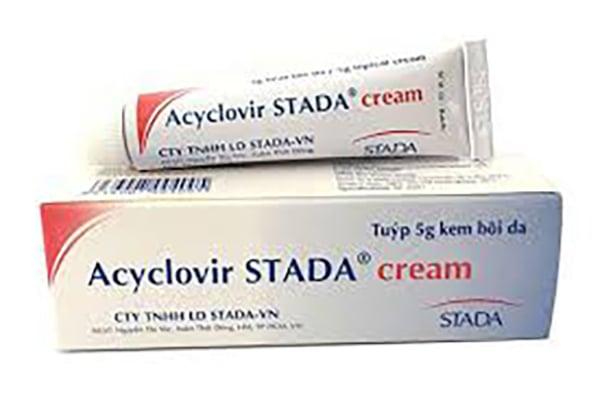 Acyclovir dạng bôi (sử dụng được cho cả phụ nữ đang cho con bú).
