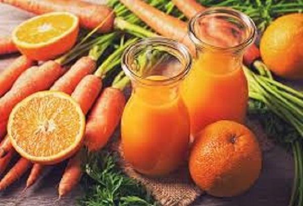 Các loại củ quả giầu vitamin A, C hỗ trợ quá trình lên màu môi chuẩn và đẹp