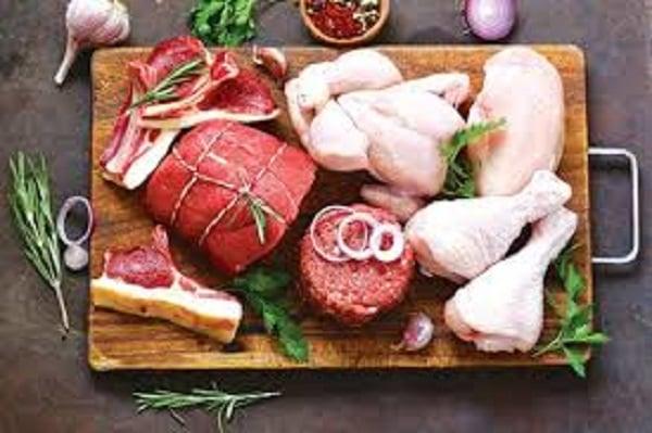 Thịt bò, thịt gà