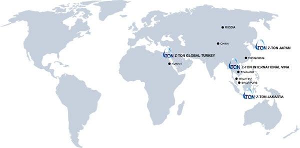 bản đồ zton thế giới