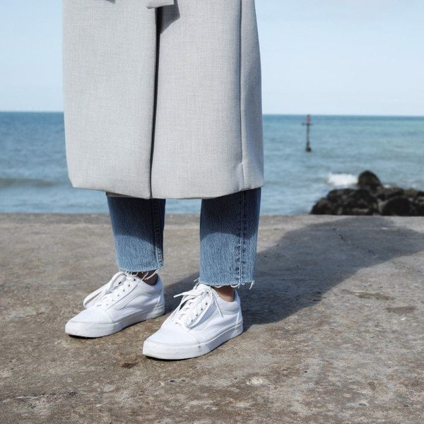 Giày Vans Old Skool All White - VN000D3HW00