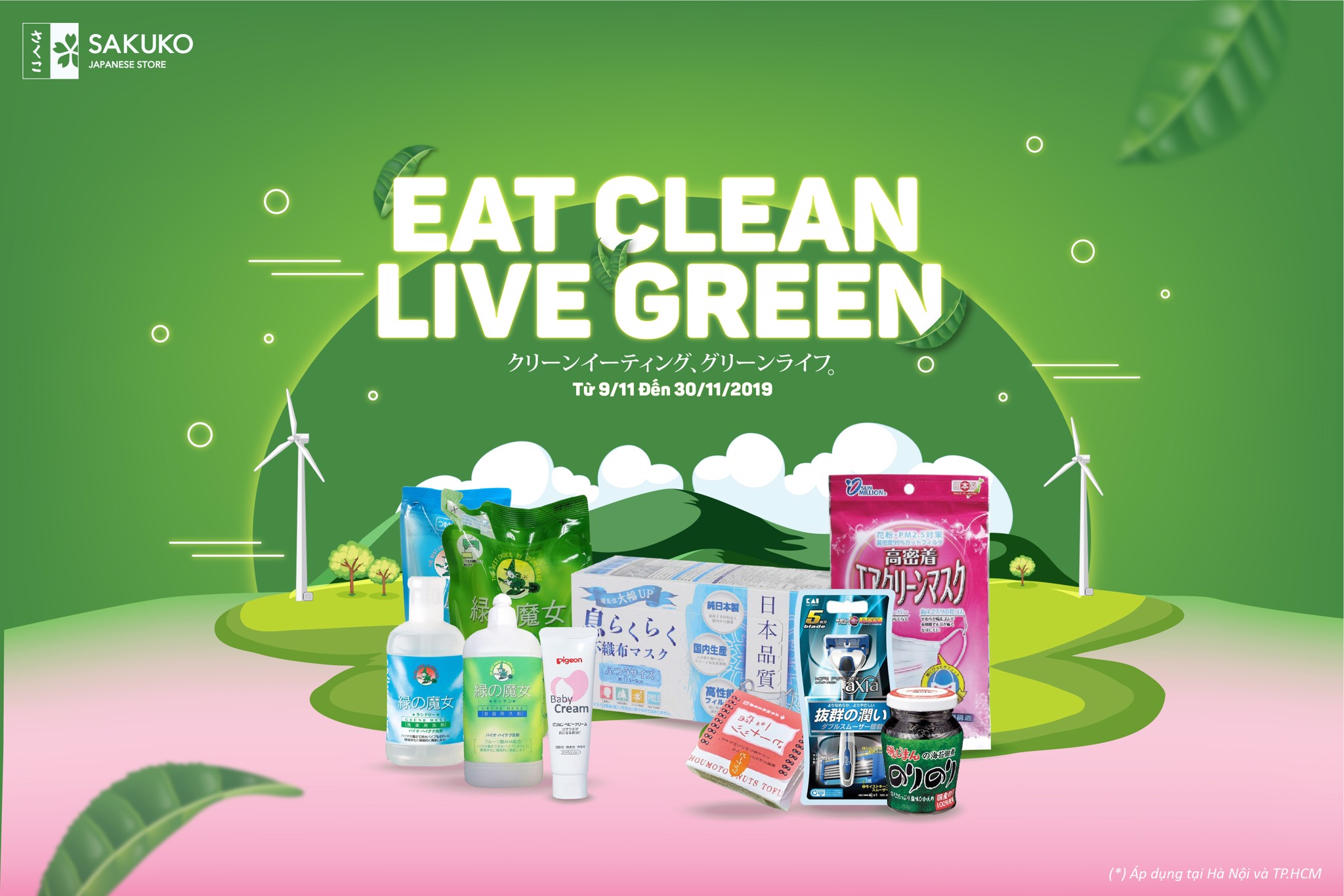 EAT CLEAN, LIVE GREEN