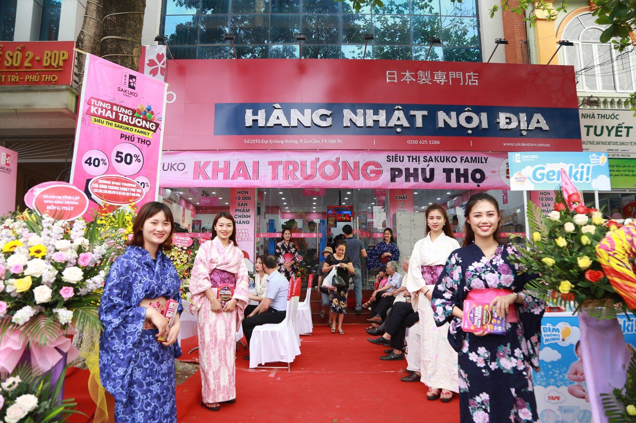 Sakuko Family Phú Thọ - Siêu thị nhượng quyền thương mại hàng Nhật nội địa thứ 8 chính thức khai trương