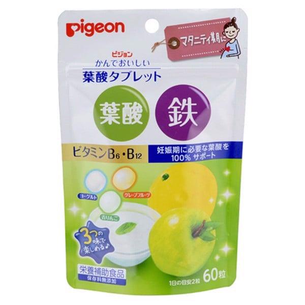 pigeon-vien-nhai-bo-sung-sat-axit-folic-vi-buoi-tao-xanh-va-sua-chua-60-vien