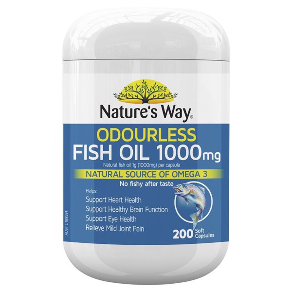 6. Dầu cá Úc Nature's Way Odourless Fish Oil 1000mg