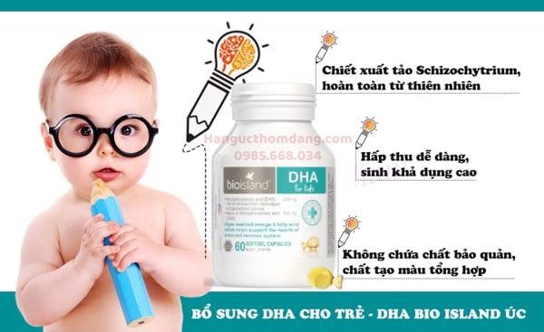 Công dụng của dầu cá DHA Bio Island cho bé là gì?