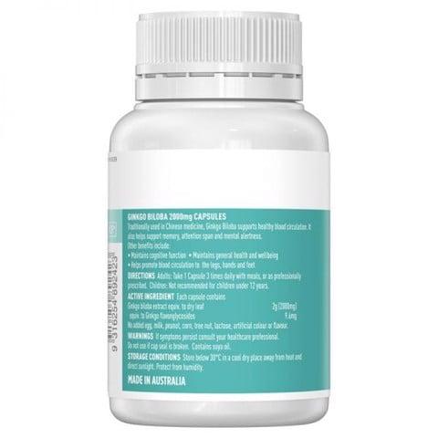 Cách dùng thuốc bổ não Ginkgo 2000 Healthy Care