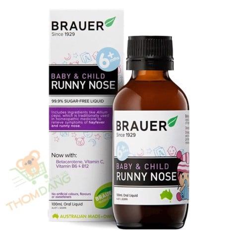 Siro trị sổ mũi cho trẻ Brauer Baby & Child Runny Nose 100ml rất được các mẹ tin dùng tại Việt Nam