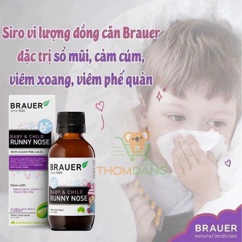 Siro trị sổ mũi cho trẻ Brauer Baby & Child Runny Nose 100ml