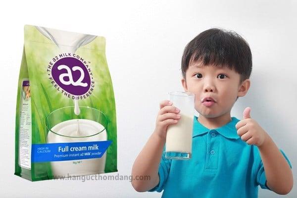 Công dụng của sữa tươi dạng bột A2 nguyên kem (1kg)