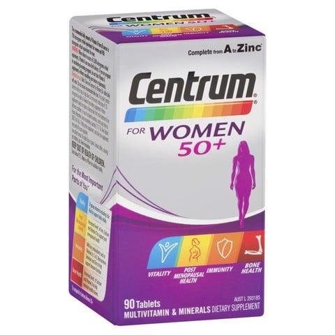 Vitamin tổng hợp cho nữ giới trên 50 tuổi Centrum For Women 50+ 90 Viên