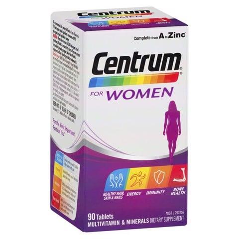 Vitamin tổng hợp cho nữ giới dưới 50 tuổi Centrum for women 90 viên