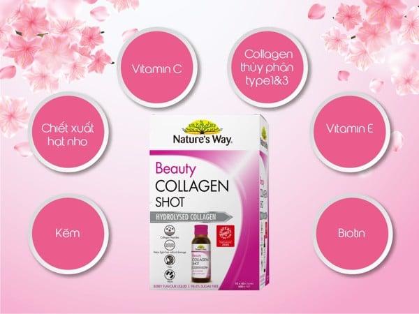 Beauty COLLAGEN Shot 10 x 50ml - GIỮ GÌN VẺ ĐẸP THANH XUÂN