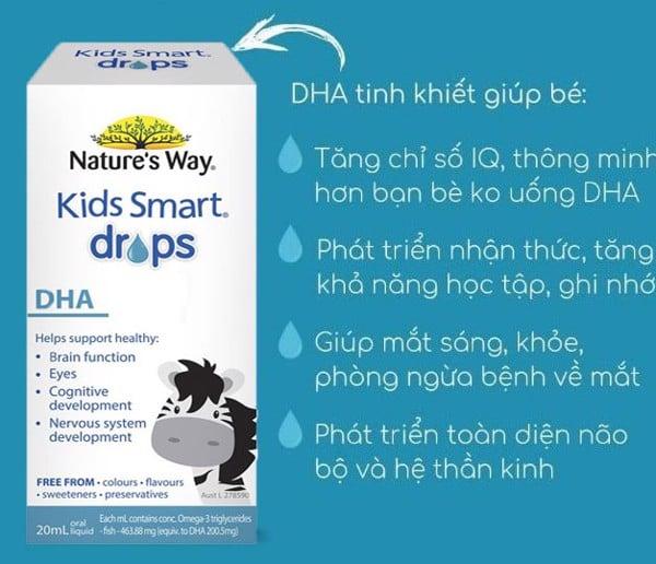 Công dụng Nature' Way Kids Smart DHA Drops 20ml
