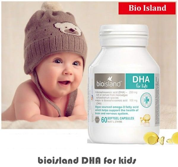 Bioisland DHA for kids là cách hữu hiệu và đơn giản để cung cấp đầy đủ DHA cho bé