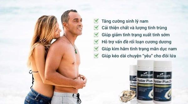 Oyster Plus là viên uống tinh chất hàu tươi New Zealand