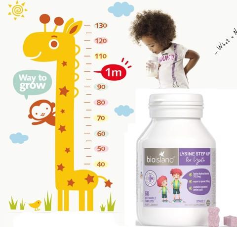Lysine dạng viên BioIsland cho bé từ 6 tuổi