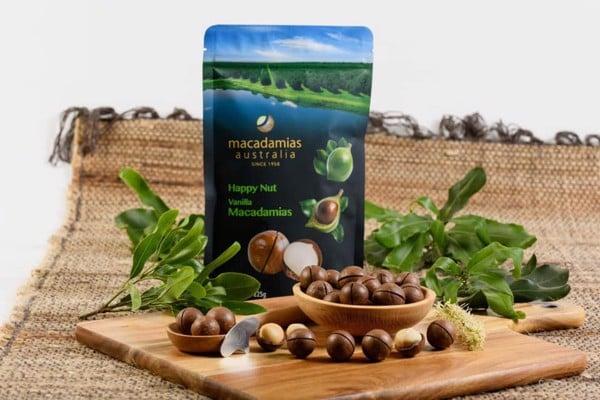 Hạt Macca Úc vị Vani rất được ưu chuộng tại thị trường Việt Nam