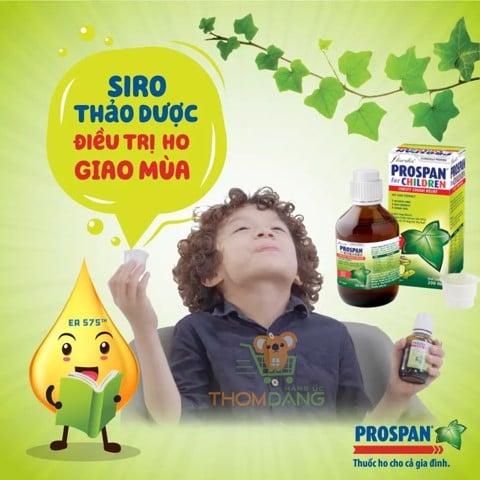 Siro thảo dược Prospan - điều trị ho giao mùa