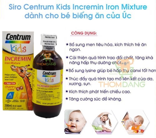 Công dụng của Centrum Kids Úc