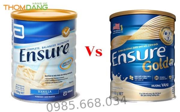 So sánh giữa sữa Ensure Úc và sữa Ensure Gold Việt Nam