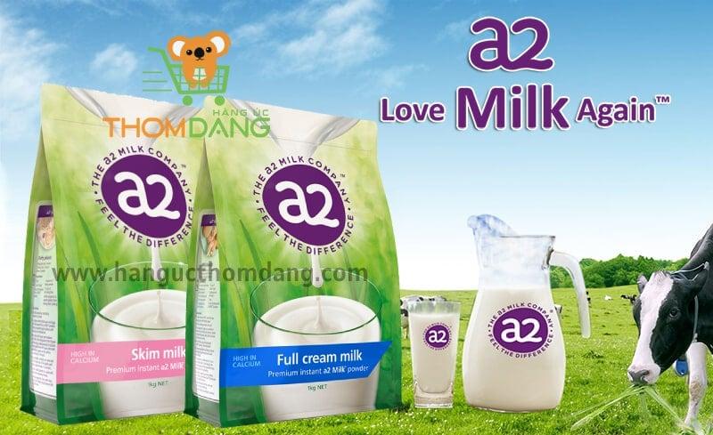Giới thiệu sữa A2 nguyên kem Full cream