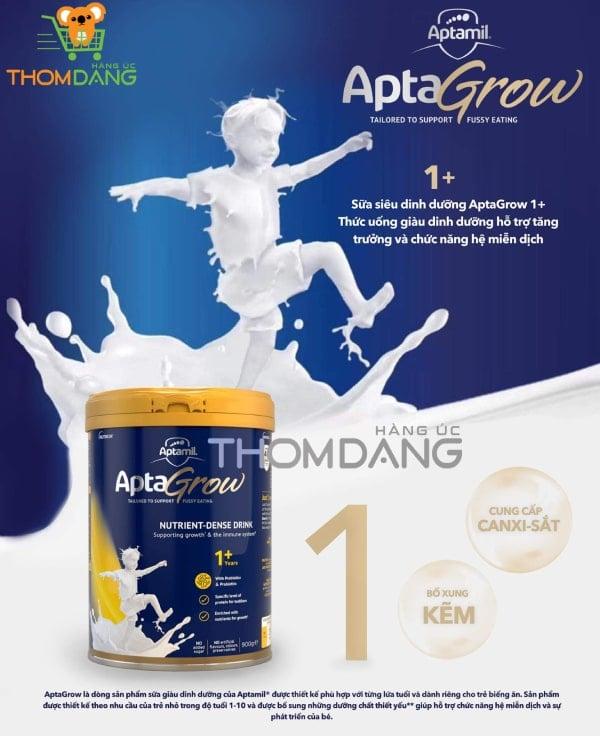 Sữa Aptamil Aptagrow 1+ siêu dinh dưỡng cho trẻ từ 1 tuổi