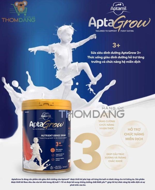 Sữa Aptamil Aptagrow 3+ siêu dinh dưỡng cho trẻ từ 3 tuổi