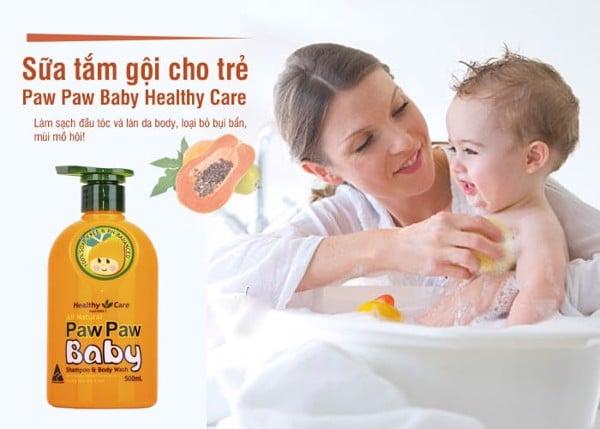 Sữa tắm gội Paw Paw Baby Healthy Care 500ml của Úc cho trẻ