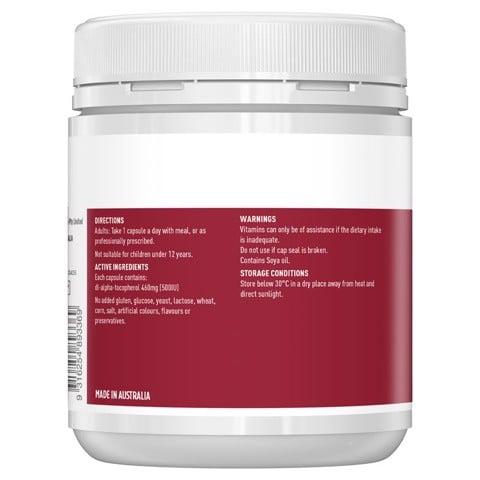 Thành phần củaHealthy Care Vitamin E 500IU
