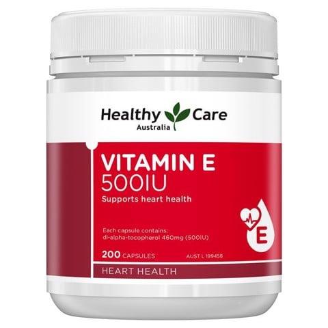 Vitamin E 500IU Healthy Care 200 viên mẫu mới nhất