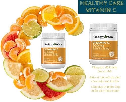 Ưu điểm của Vitamin C Healthy Care