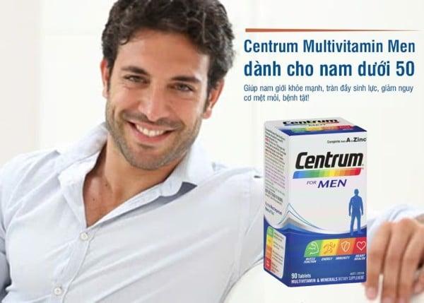 Vitamin tổng hợp cho nam giới dưới 50 tuổi Centrum For Men 90 viên