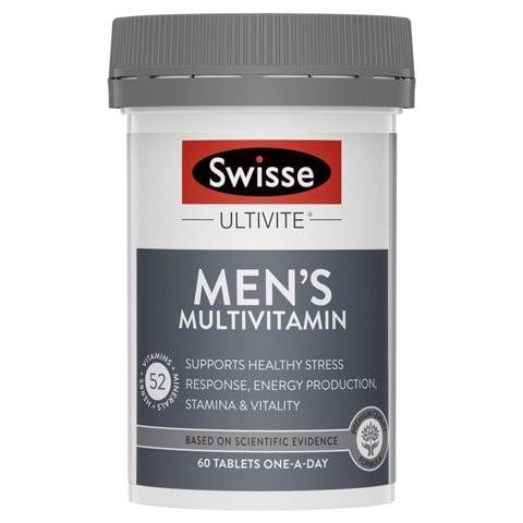 Swisse Men's Ultitive Multivitamin 60 viên MẪU MỚI NHẤT