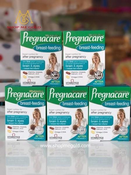 Viên uống Vitabiotics Pregnacare Breast Feeding cung cấp đa dạng các loại canxi và các loại axit thiết yếu dành cho các mẹ sau khi sinh và nuôi con bằng sữa mẹ.