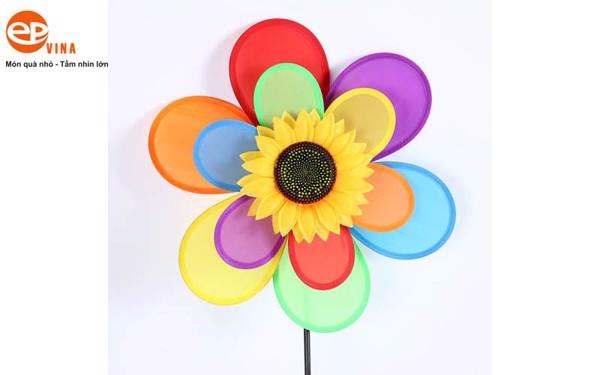 Chong chóng vải dù hình hoa hướng dương độc đáo đẹp khó tả