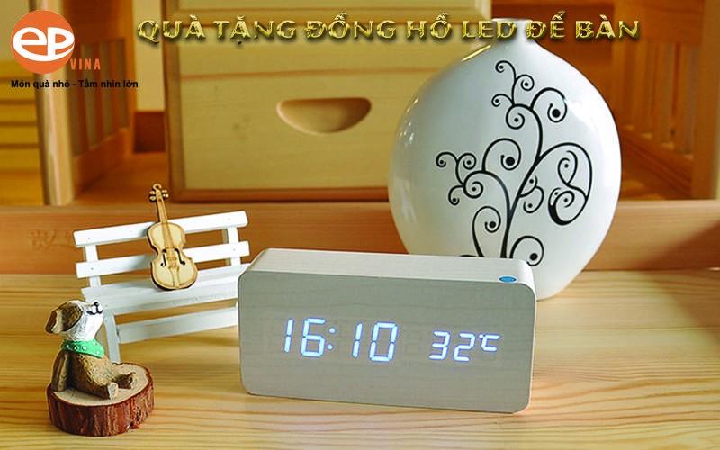 Đồng hồ led để bàn cao cấp đa chức năng